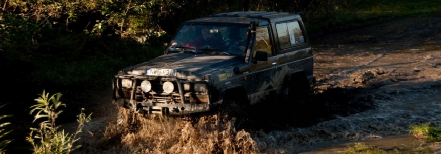 Samochody terenowe na Mazurach